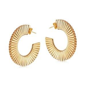 MissomaLarge Flat Frill Hoop Earrings