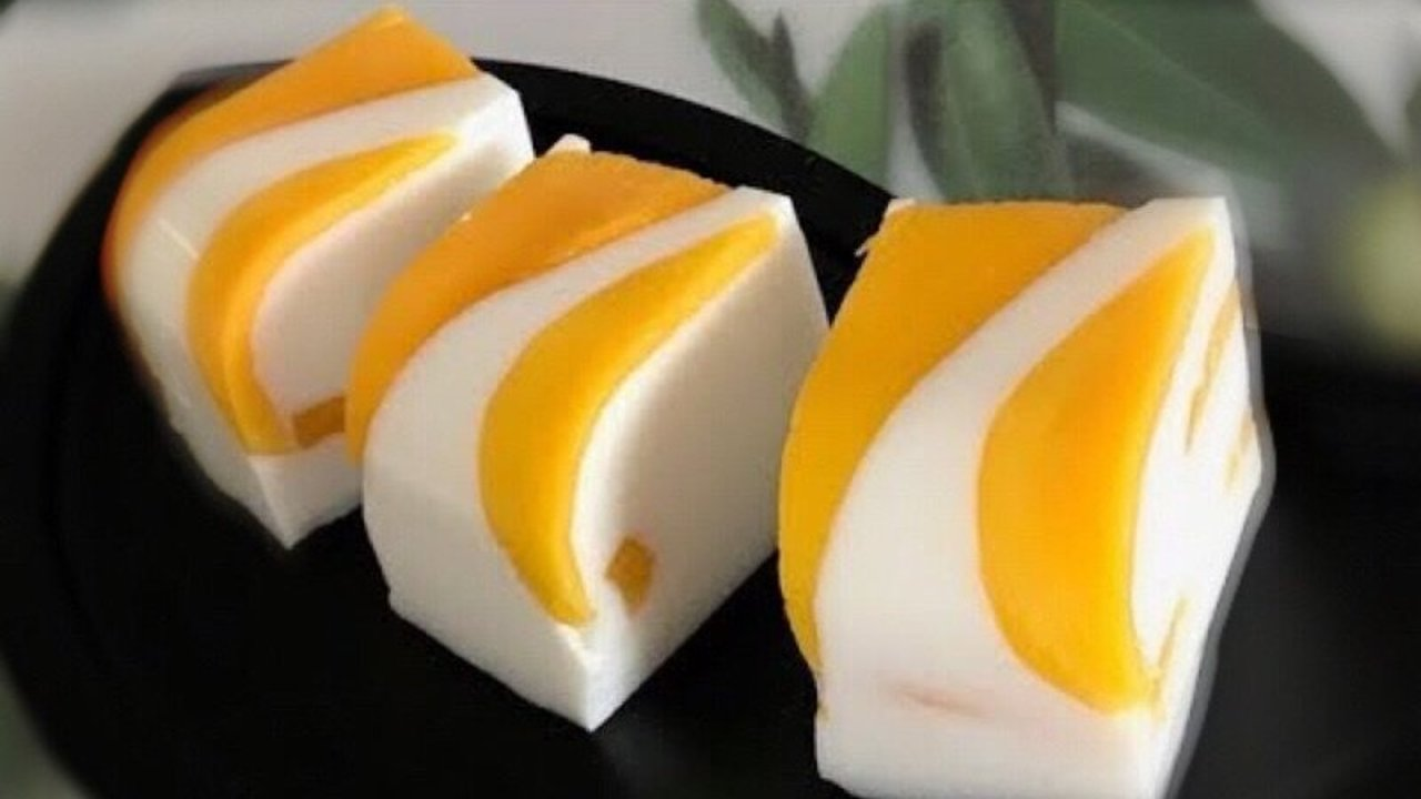 夏季清凉甜品之 芒果椰汁糕