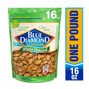 $6.52Blue Diamond Almonds, Raw Whole Natural, 16 Ounce