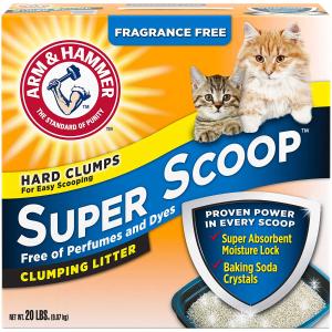 $18.27(原价$24.25)Arm & Hammer Super Scoop 无香型猫砂 20lbs 喵星人必备