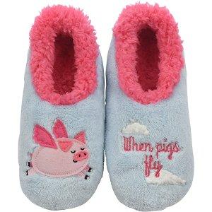 $19.99收封面款小猪拖鞋Snoozies 女士可爱毛绒动物拖鞋 居家必备 多款可选