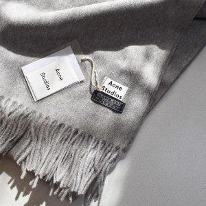9折!冷帽£90 撞色围巾£175Acne Studios 爆款专场 收围巾开衫、毛衣、囧脸等经典好物