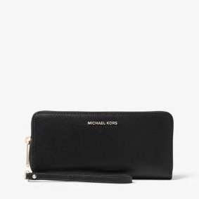 Michael Kors Black Leather Travel Wallet @ Jomashop