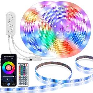 $29.39(原价$43.99)约10米史低价:TaoTronics WiFi智能LED炫酷背景灯条 可随音乐变化