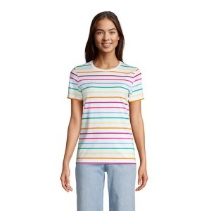 Lands' EndWomen's Relaxed Supima Cotton Short Sleeve Crewneck T-Shirt