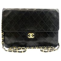 Chanel Timeless/Classique 荔枝皮Logo链条包