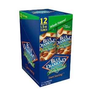 $9.18Blue Diamond Almonds, Whole Natural, 1.5 Ounce (Pack of 12)