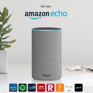 现价£74.99 (原价£89.99)Amazon Echo 2代 智能语音管家 多色可选