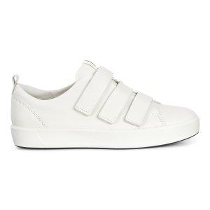 ECCO女款魔术贴小白鞋