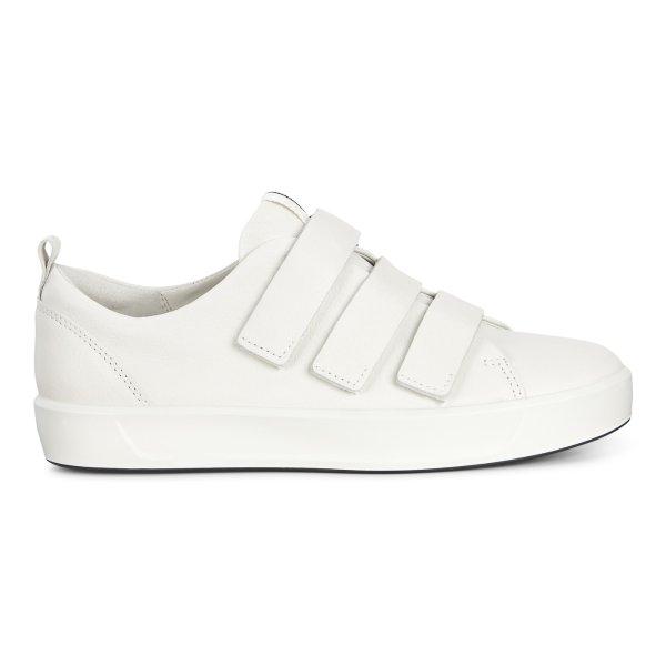 女款魔术贴小白鞋