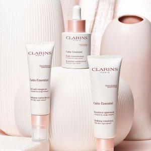 送Clarins护肤5件套+额外4件Clarins娇韵诗 舒敏系列温暖上线 滋润冬日呵护肌肤