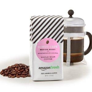 $9.73(原价$17.7)白菜价:AmazonFresh Donut Cafe中等烘焙咖啡 12oz 3包