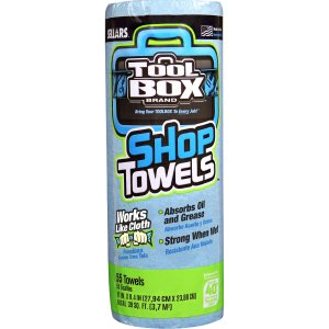 $1.99Tool Box Brand Blue Shop Towels — 1 Roll, 55-Count