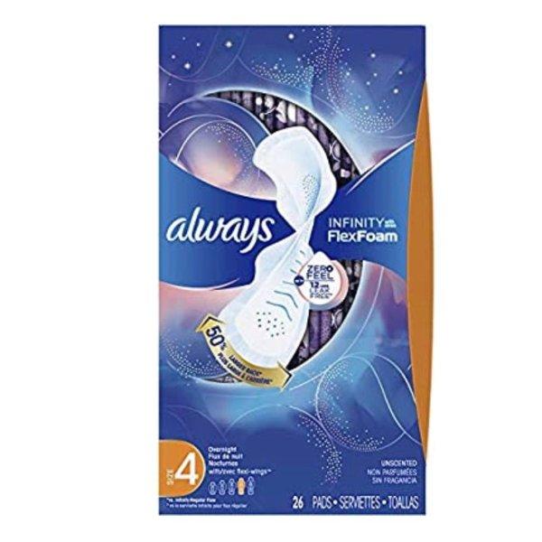 Always 夜用液体卫生巾 4号 带护翼 26片/盒*3盒
