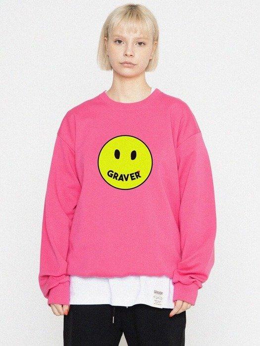 粉色笑脸卫衣