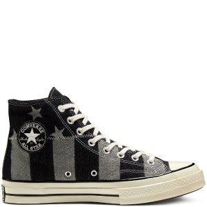 Converse星星条纹拼接帆布鞋