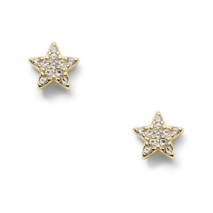 FossilStar Gold-Tone Stainless Steel Studs