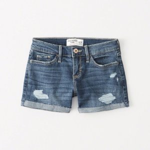d724256ce Abercrombie & Fitchgirls ripped midi shorts | girls best of sale |  Abercrombie.com