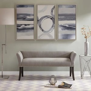 Madison ParkAntonio Grey Upholstered Rectangle Accent Bench