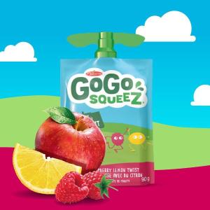 $2(原价$3.29) 凑单佳品GoGo squeeZ 天然水果宝宝果泥4袋x90g 健康营养辅食