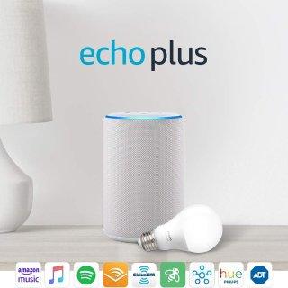 立省$402代 Echo Plus 多色可选,还送 Philip 智能灯泡或智能插座
