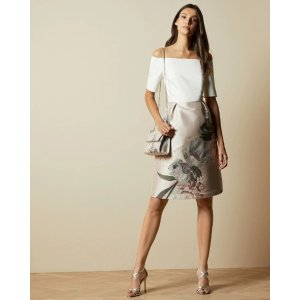 Ted BakerCATHIEY Woodland off the shoulder dress
