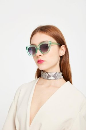 Thomas James Perspex Sunglasses With Turquoise Frame