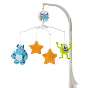 $22.8 原价$49.99史低价:迪士尼 小怪兽婴儿床电动音乐旋转安抚玩具