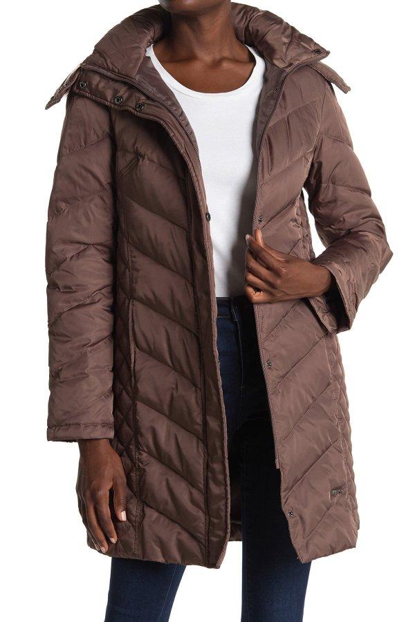 Faux Fur Trimmed 羽绒服