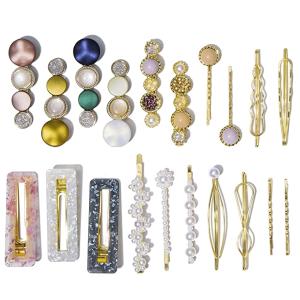 Macaron 珍珠发夹20件 承包整个夏天的发卡