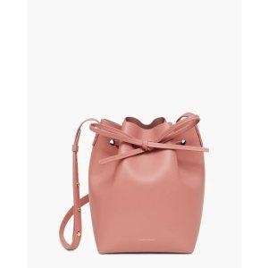 Mansur GavrielBlush Mini Leather Bucket Bag