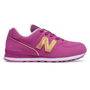 一律$24.99/双+包邮独家:New Balance 儿童经典574休闲运动鞋 快乐暑假大促
