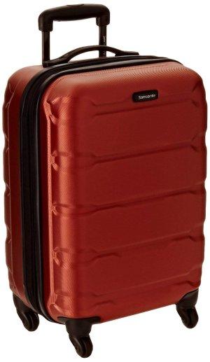 $51.88史低价:Samsonite Omni 20吋 全方位旋转硬质登机箱 橘色