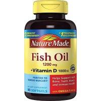Nature Made 深海鱼油 1200mg + 维生素D 90粒 3瓶
