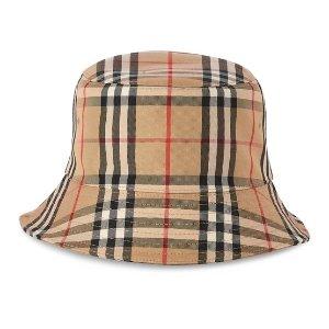 Burberry24S 最高满额75折渔夫帽