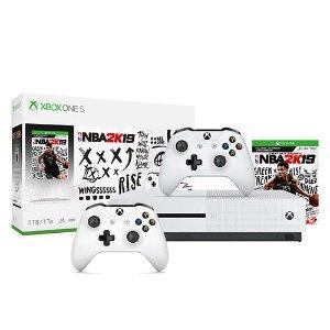 $214.99 (原价$299)Xbox One S 1TB《2K19》套装 + 额外白色手柄