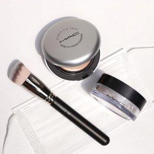 送自选眼妆(价值$31)MAC 魅可 2021超持妝水粉饼 轻松遮纹身 戴口罩也可