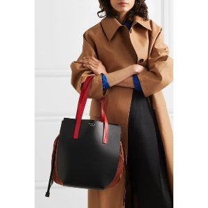 MarniColor-block leather and shell shoulder bag