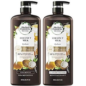 Herbal Essences, Shampoo and Sulfate Free Conditioner Kit, BioRenew Coconut Milk, 20.2 fl oz @ Amazon