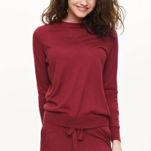 Eve's Temptation桑蚕羊绒混合针织衫