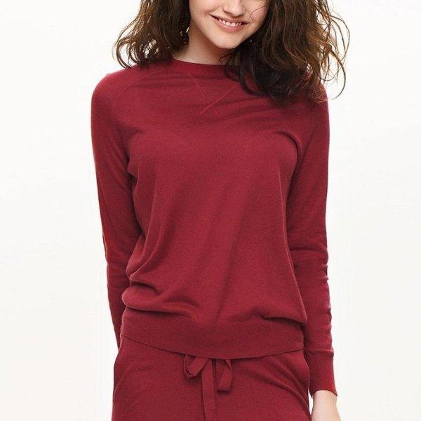 桑蚕羊绒混合针织衫