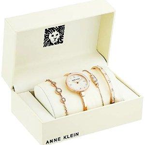 $69.99Anne Klein Women's Swarovski Crystal Watch and Bracelet Set