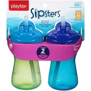 Playtex Sipsters Stage 2 Sippy Cups (9 Ounce)