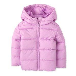 包邮 背心$14.99 棉服$19.99Children's Place 儿童保暖外套低至3.3折限时热卖