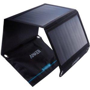 $52.49 户外徒步神器ANKER PowerPort Solar 21W 折叠式太阳能充电板