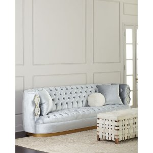 Haute HouseElisa Marble Inlay Tufted Sofa, 113