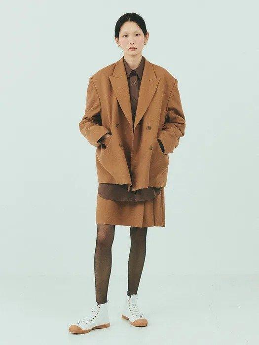 双排扣羊毛外套