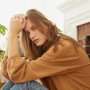 无门槛4折+免邮 满满设计感独家:Revive Cashmere 高端轻柔羊绒女装特价热卖