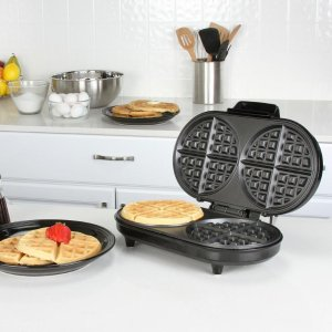 Kalorik 2-Slice Black Stainless Steel Belgian Waffle Maker