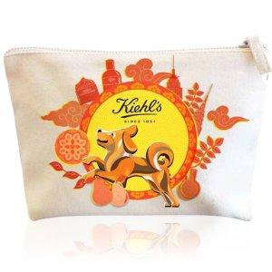自选4件中样+狗年限量化妆包折扣升级:Kiehl's 官网任意订单满$75送超值好礼